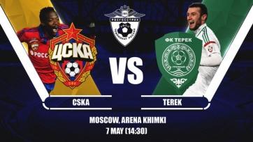 ЦСКА – «Терек», онлайн-трансляция. Стартовые составы команд