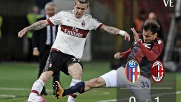 «Милан» одержал выездную победу над «Болоньей»