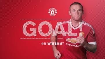 Уэйн Руни забил свой сотый гол на «Олд Траффорд» в матчах чемпионата Англии