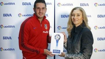 Хавбек «Атлетико» Коке стал лучшим игроком Примеры в апреле