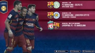 «Барселона» сыграет с «Селтиком», «Лестером» и «Ливерпулем» в рамках Международного Кубка чемпионов