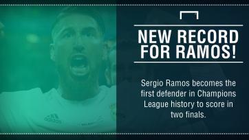 Серхио Рамос стал первым защитником, забившим в двух финалах ЛЧ