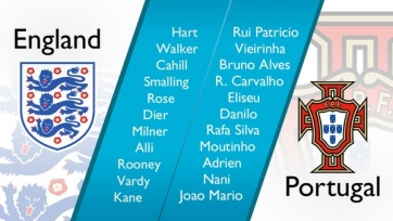 Англия-Португалия, онлайн-трансляция. Стартовые составы команд