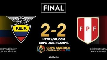 Сборные Эквадора и Перу сыграли вничью на Кубке Америки