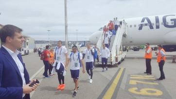 Российская сборная прибыла в город Марсель