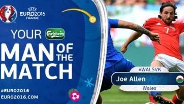 Джо Аллен - лучший игрок матча Уэльса со Словакией