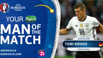 Тони Кроос признан лучшим игроком матча между Германией и Украиной