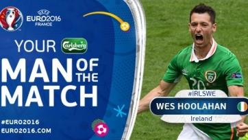 Уэсли Хулахан – лучший игрок матча Ирландия – Швеция