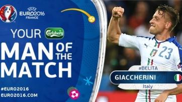 Эмануэле Джаккерини – лучший игрок матча между бельгийцами и итальянцами
