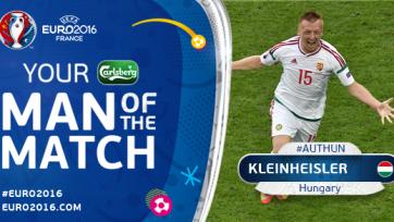 Кляйнхайслер – лучший игрок матча между венграми и австрийцами