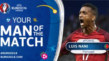Нани – лучший игрок матча Португалия – Исландия