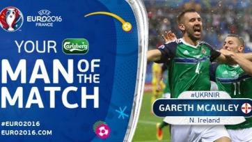 Гарет Маколи признан лучшим игроком матча между Украиной и Северной Ирландией