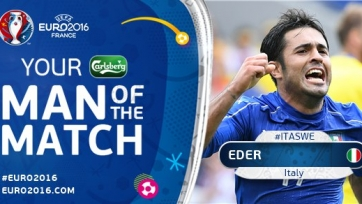 Эдер – лучший игрок матча Италия-Швеция