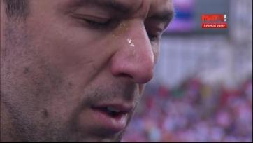 Срна расплакался во время исполнения гимна Хорватии