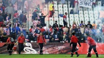Хорватские фанаты подтвердили, что чехи не участвовали в инцидентах на трибуне