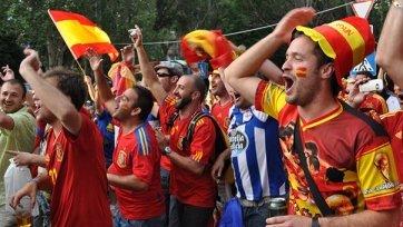 Французская полиция арестовала трёх испанских болельщиков