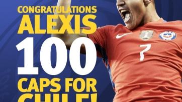 Алексис Санчес проводит сотый матч за сборную Чили