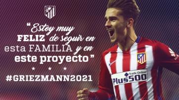Официально: Гризманн продлил контракт с «Атлетико»