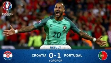 Португальцы одержали первую победу на Евро-2016 и прошли хорватов
