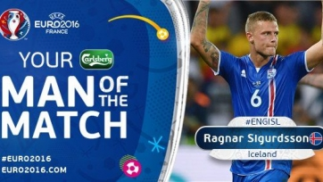 Рагнар Сигурдссон – лучший игрок матча между Исландией и Англией