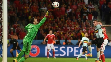 Тибо Куртуа: «Игроки Уэльса были «деревянными», но создали больше шансов»