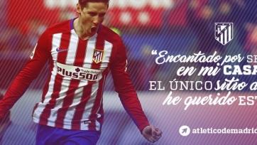 Официально: Торрес заключил новый контракт с «Атлетико»