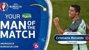 Криштиану Роналду – лучший игрок первого полуфинала Чемпионата Европы