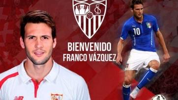 Франко Васкес официально стал футболистом «Севильи»