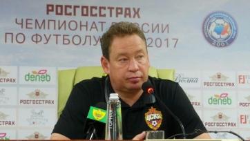 Леонид Слуцкий недоволен результатом матча с «Анжи»