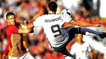 «МЮ» крупно переиграл «Галатасарай», Златан Ибрагимович забил свой первый гол за команду