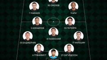 «Краснодар» - «Томь». Стартовые составы команд