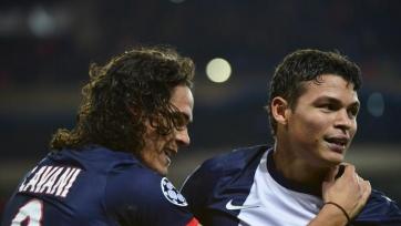 Тьяго Силва и Эдинсон Кавани пропустят матч за Суперкубок Франции