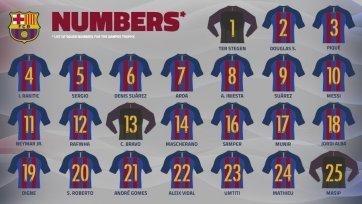 «Барселона» объявила номера игроков на предстоящий сезон