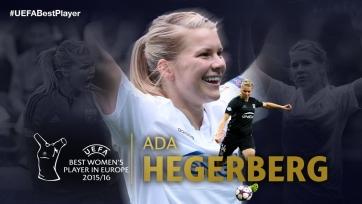 Норвежка Ада Хегерберг признана лучшей футболисткой Европы за минувший сезон