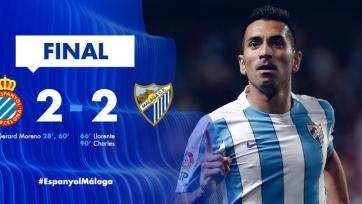 «Эспаньол» упустил победу в матче с «Малагой»