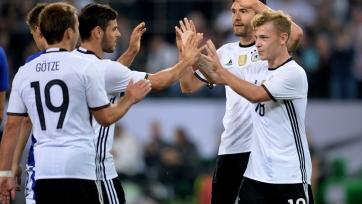 Сборная Германии забила два мяча финнам в последнем матче Швайнштайгера