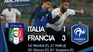 Сборная Италии уступила французам