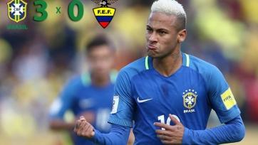 Результативная игра Неймара помогла Бразилии разгромить Эквадор