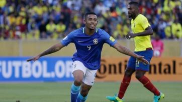 Габриэль Жезус сделал дубль в дебютном матче за сборную Бразилии