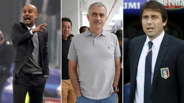 Моуринью, Конте и Гвардиола номинированы на звание тренера августа в АПЛ