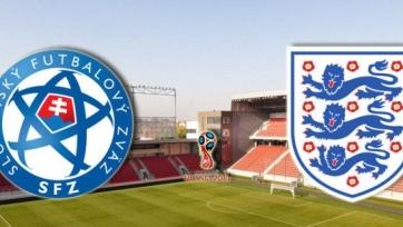 Англия – Словакия. Стартовые составы команд