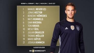 Норвегия – Германия, стартовый состав немецкой сборной