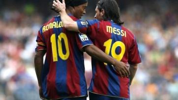 Роналдиньо: «Я доволен, когда вижу Месси в хорошем расположении духа»