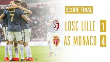 «Монако» разгромил в гостях «Лилль»