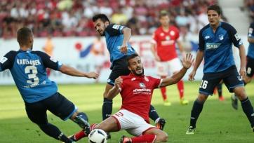 «Хоффенхайм» отыгрался в матче с «Майнцем», уступая по ходу игры три мяча