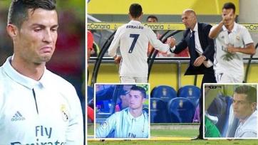 Роналду нецензурно высказался в адрес Зидана из-за замены в матче с «Лас-Пальмас»