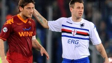 Кассано: «Тотти – лучший 10-й номер в истории Италии»