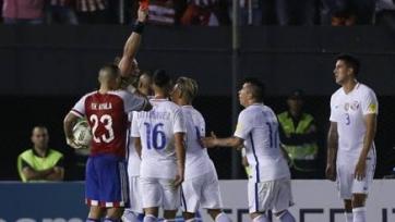 Гари Медель дисквалифицирован на четыре матча сборной Чили
