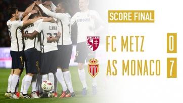 «Монако» выдал самый крупный счёт в Лиге 1 в текущем сезоне