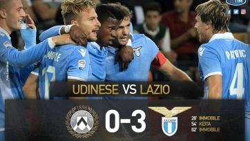 «Лацио» разгромил на выезде «Удинезе»